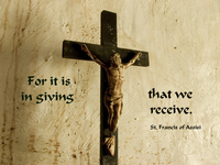 For It is giving that we receive.